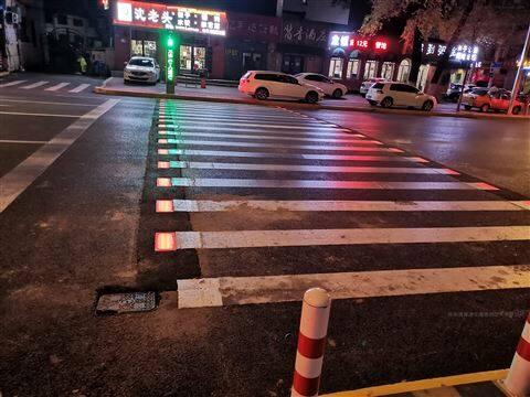 哈尔滨智慧斑马线警示系统