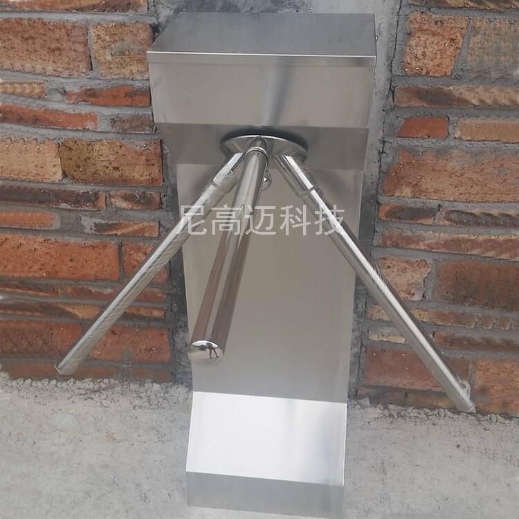 不锈钢金属单向三辊转闸机 超市进口人行门