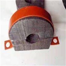 污水管道防腐木托 管道铁卡 垫木厂家