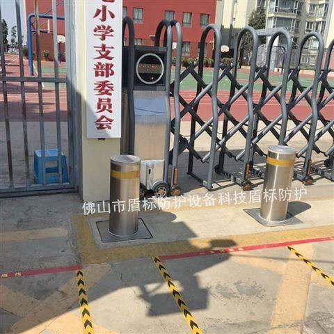 学校门口不锈钢防车冲撞智能全自动升降柱