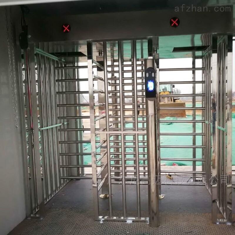建筑工地门禁不锈钢双向全高闸