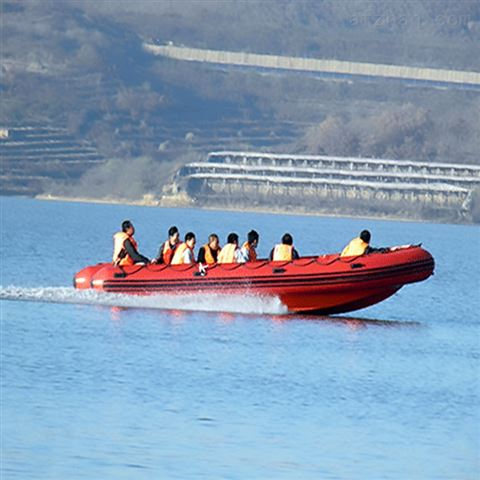 防汛抗洪物资充气橡皮艇玻璃钢冲锋舟供应