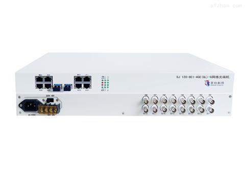 双光口保护8E1+4路物理隔离千兆网络光端机