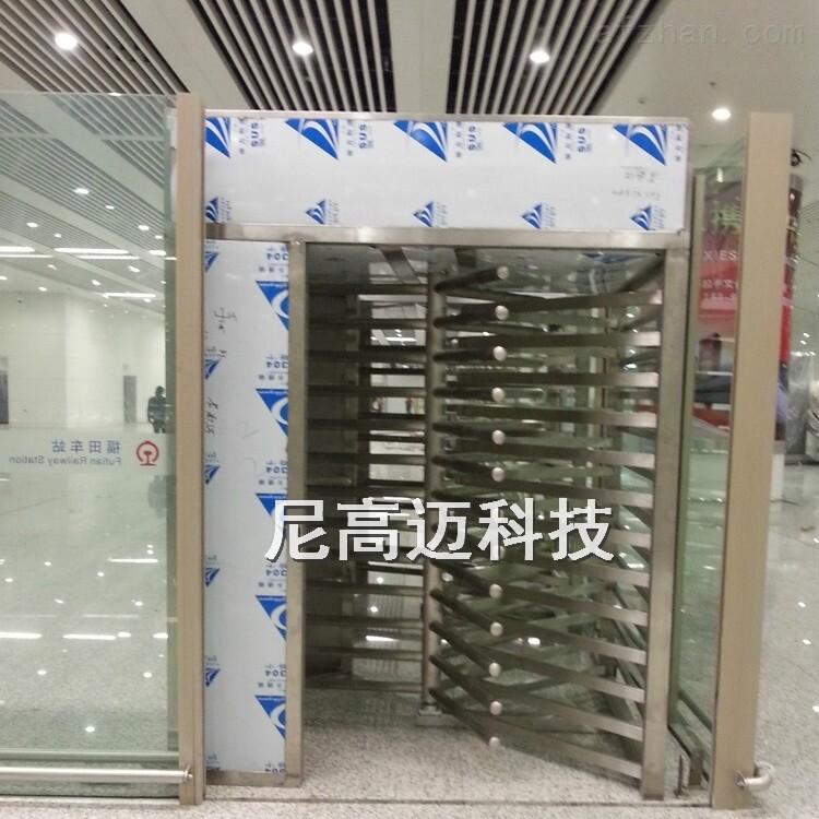 车站出口全高封闭式旋转闸定制安装