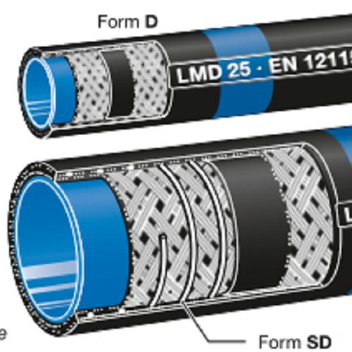 ELAFLEX  LMS LMD溶剂软管蓝色带环