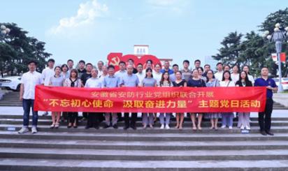 安徽任天堂app协会党支部与会员单位联手开展主题党日活动