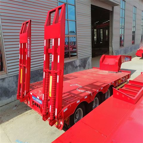 自卸半挂车_全挂平板拖车出口尼日利亚规格